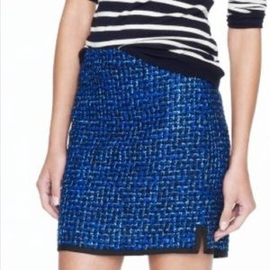 J. crew Sz 6 Postage Stamp mini in Indigo Tweed